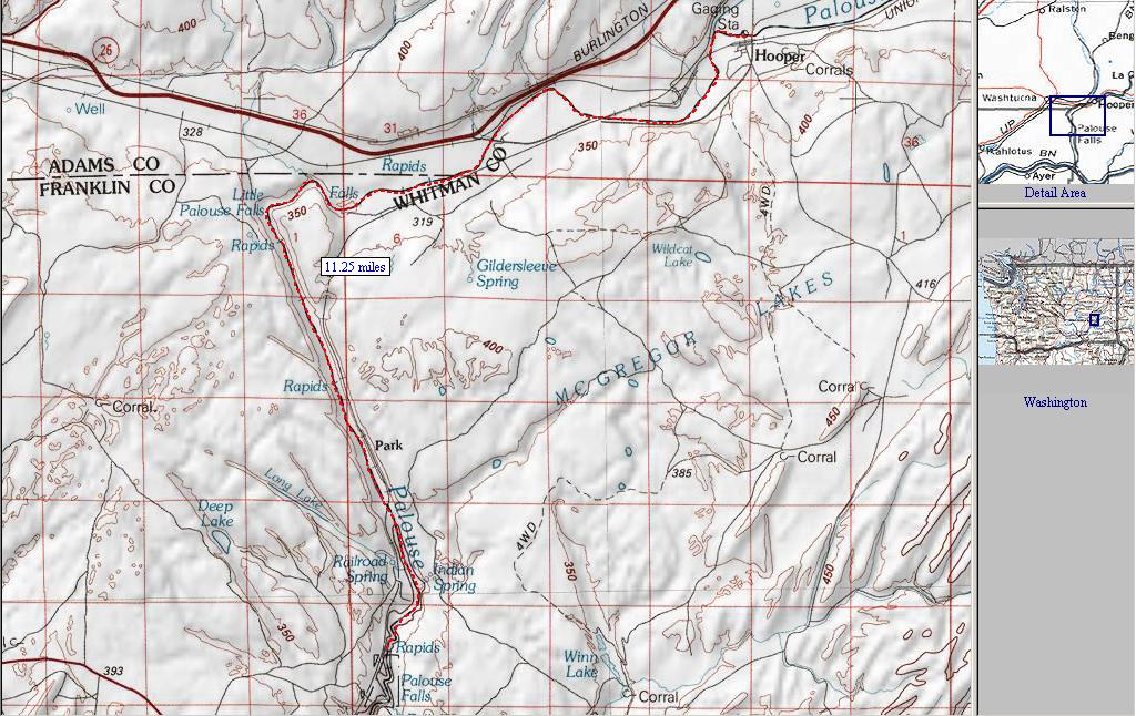 Palouse Falls Washington Map.Palouse River The Upper